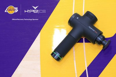 Hypervolt Plus x L.A Lakers | Source: Hyperice and Los Angeles Lakers via press release