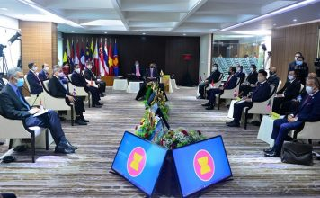 The ASEAN Leaders' Meeting was convened at the ASEAN Secretariat in Jakarta, Republic of Indonesia, and chaired by His Majesty Sultan Haji Hassanal Bolkiah Mu'izzaddin Waddaulah, Sultan and Yang Di-Pertuan of Brunei Darussalam. The Meeting was convened on 24 April 2021 with the view to advance ASEAN Community building, hasten recovery from the Coronavirus Disease 2019 (COVID-19) pandemic, strengthen ASEAN's external relations and address pressing issues of common interest to all ASEAN Member States. JAKARTA, 24 April 2021. Source: ASEAN/Website