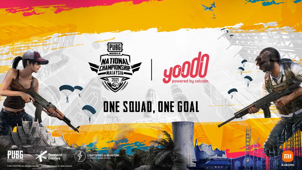 PUBG MOBILE National Championship Malaysia 2021. Poster by PUBG, Yoodo, Xiaomi / Press release