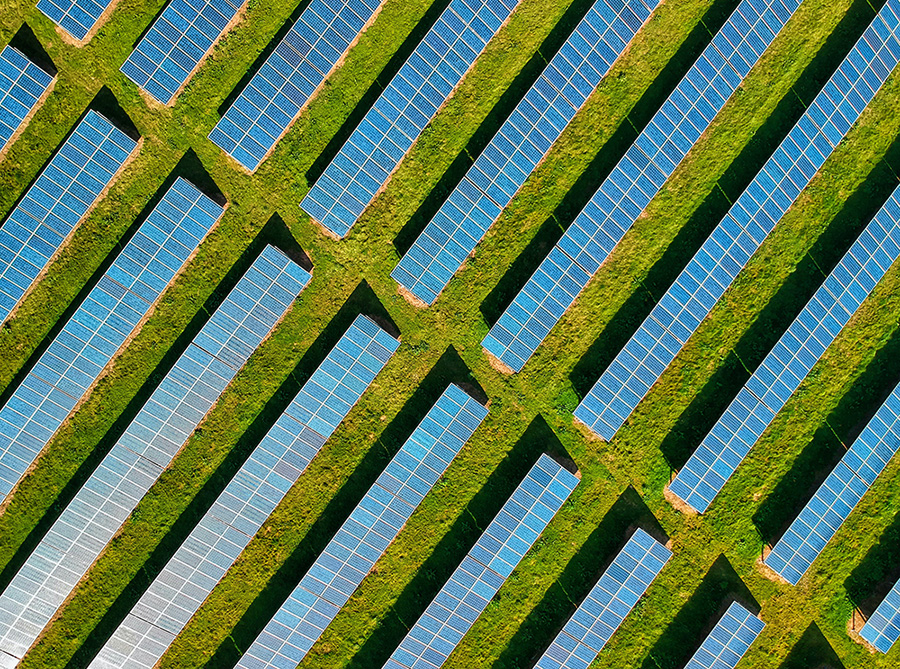 Photo for illustrative purposes only. Solar panels in Lower Allercombe Farm, Rockbeare, Exeter, UK. 9 April 2020. Photo by Red Zeppelin/Unsplash