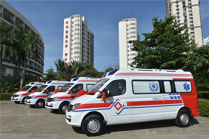 A fleet of Weststar's Maxus V80 Negative Pressure Ambulance in Wuhan, China.   Photo by Weststar Group/Press release
