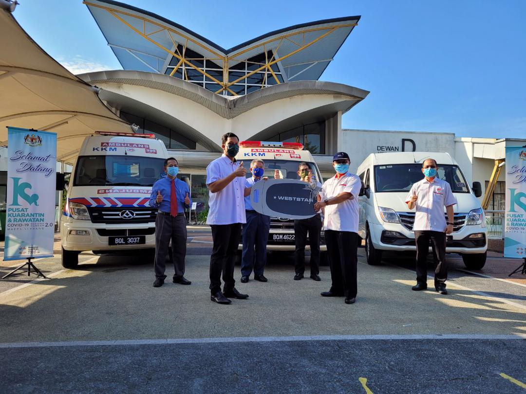 Handover to Selangor State Department of Health in Malaysia by Weststar Group.   Photo by Weststar Group/Press release
