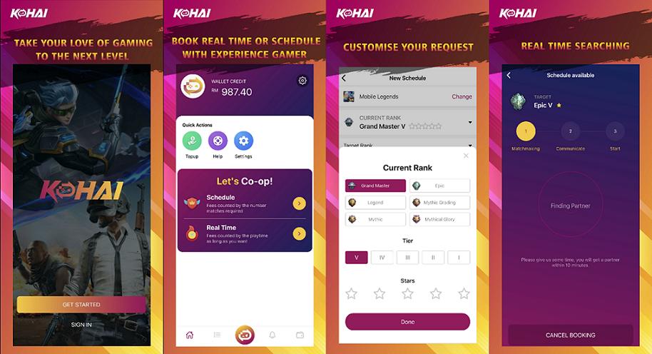 Kohai Gamer app user interface. Photo by Kohai/Press release